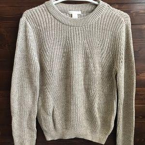 Basic Grey-Beige Fisherman Sweater